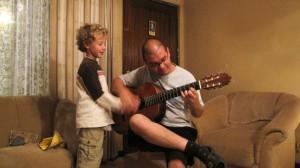 Marlon and Adam guitar